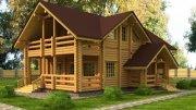 Будівництво дачного будинку з Колоди